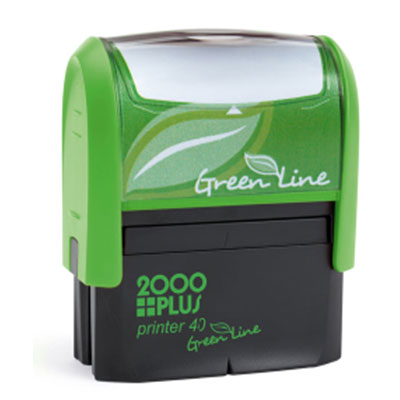 2000 Plus Green Line Notary Stamp